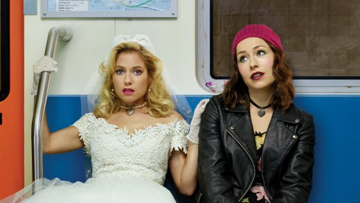 (L-R) Laura Ramsey (Becca), Sarah Goldberg (Lolly)