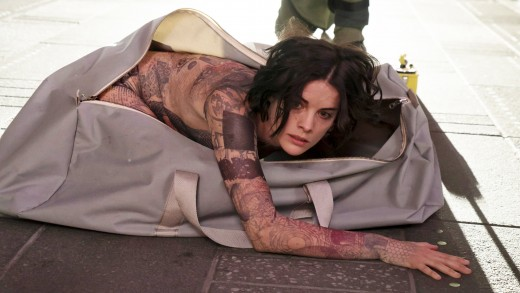 "TV STILL -- DO NOT PURGE -- BLINDSPOT -- ""Pilot"" --  Pictured: Jaimie Alexander as Jane Doe -- (Photo by: Virginia Sherwood/NBC)"